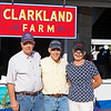 (L-R): Fred Mitchell, Matt (Ernie) Ernst, and Marty Buckner with Clarkland Farm consignment<br /> at the Keeneland September Sale.
