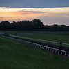 Caption: Destin on Fred as the sun comes up and he gets ready for the next set. <br /> A native of Oklahoma, Heath started working at WinStar Farm on October 10, 2014, and became the farm trainer in October of 2018. Presently he has about 100 horses in training at the WinStar Farm training center, where they have a 7 1/2-furlong main track and 3/4 of a mile undulating turf gallop.<br /> Daily Life series on Destin Heath, farm trainer at WinStar Farm on Aug. 11, 2020 WinStar Farm in Versailles, KY.