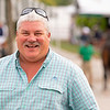 Lynn Burleson with Burleson Farm consignment<br /> at the Keeneland September Sale.