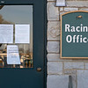 Caption: Racing Office signs related to COVID19  and office closure<br /> Behind the Scenes at Keeneland during Covid19 virus and the people, horses, and essentials needed to take care of race horses on April 2, 2020 Keeneland in Lexington, KY.