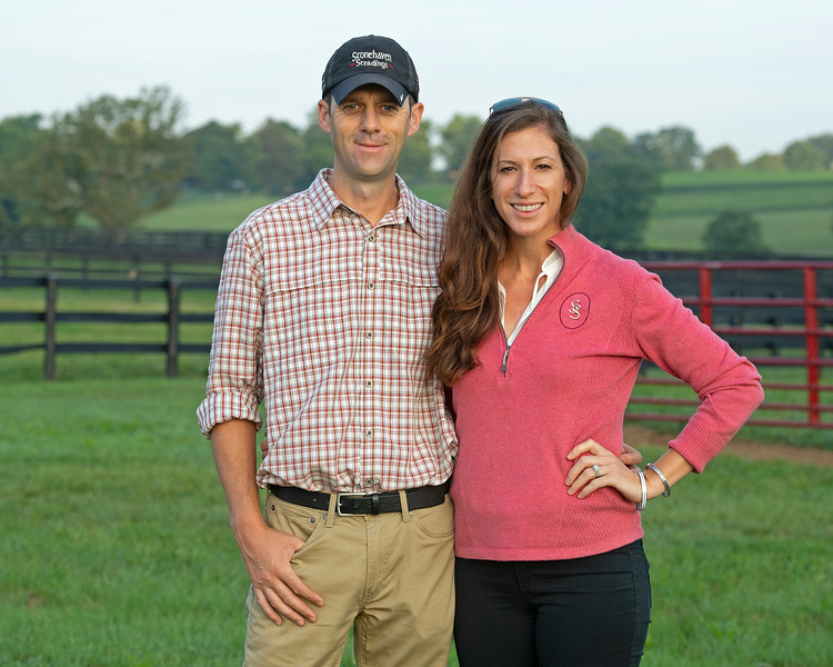 Caption: <br /> Aidan and Leah O'Meara at Stonehaven Steadings near Versailles, Ky. on Aug. 7, 2020