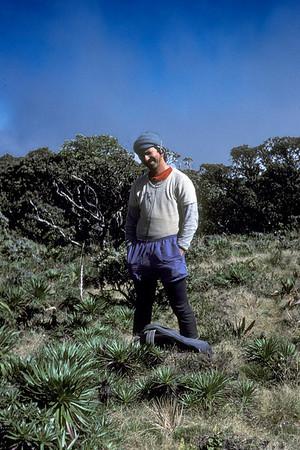 "Greensword Bog; ""5th anniversary(?)""; standing: Art Medeiros(?); photo developed December 1986; photo by (?) (photoID: bhg002035)"