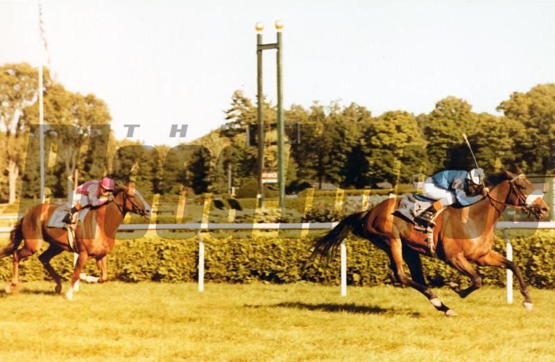 Waya wins the 1978 Diana at Saratoga with Angel Cordero Jr. aboard. <br /> Bob Coglianese
