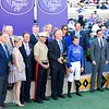 Connections of Wuheida after winning the Breeders Cup Filly and Mare Turf on November 4, 2017. Photo by Anne Eberhardt.