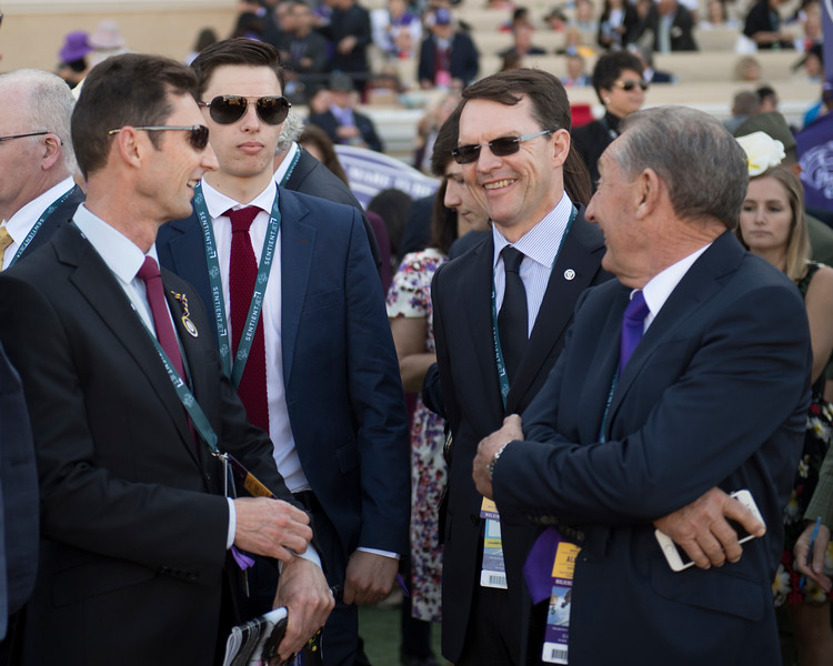Aidan O'Brien with Derrick Smith etc<br /> Wuheida wins the Breeders Cup Filly and Mare Turf on November 4, 2017. Photo by Anne Eberhardt.