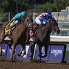 British Idiom wins 2019 Breeders' Cup Juvenile Fillies at Santa Anita Park. Photo: Skip Dickstein