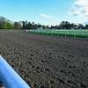 The Oklahoma Training Center opened Wednesday May 12, 2021 in Saratoga Springs, N.Y. with extensive improvements including a new and widened surface, safety rails and improved drainage.    Photo by Skip Dickstein