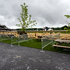 The new seating area in the Clubhouse Turn at the Saratoga Race Course  Monday July 13, 2021 in Saratoga Springs, N.Y. . Photo by Skip Dickstein
