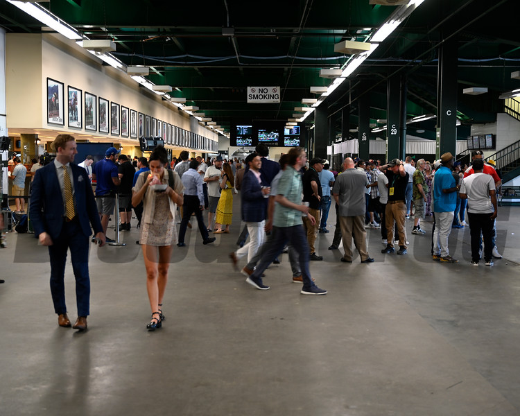 Scene on Belmont Stakes Day at Belmont Park Saturday June 5, 2021 in Elmont, N.Y.  . Photo  by Skip Dickstein