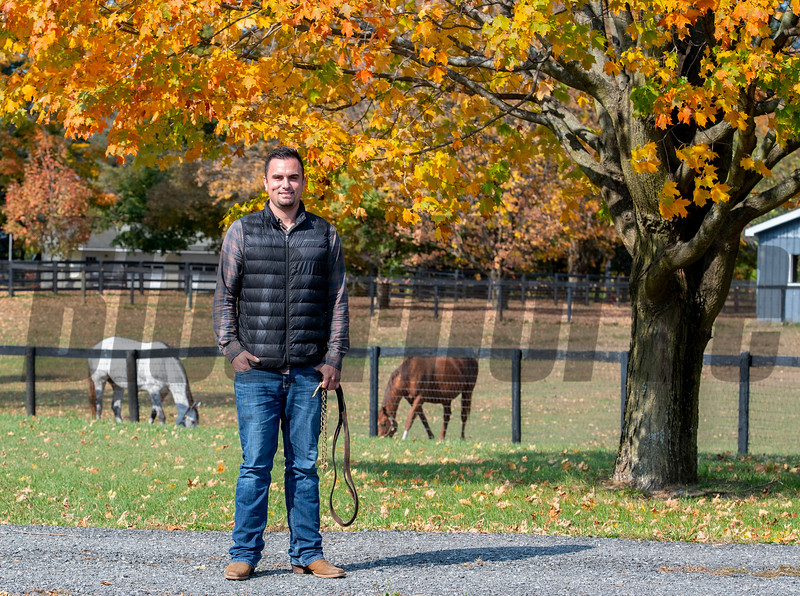 Waldorf Farm manager Kenny Toye on the farm Saturday Oct. 10, 2020 in North Chatham, N.Y.   Photo by Skip Dickstein