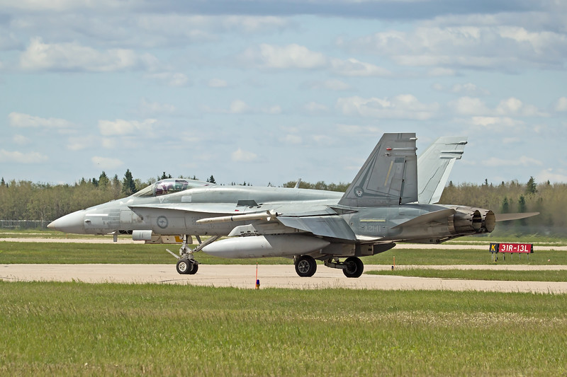 RAAF F/A-18 Hornet, assigned to 2 OCU.  Mission markings on nose from Operation Okra deployment in 2017.