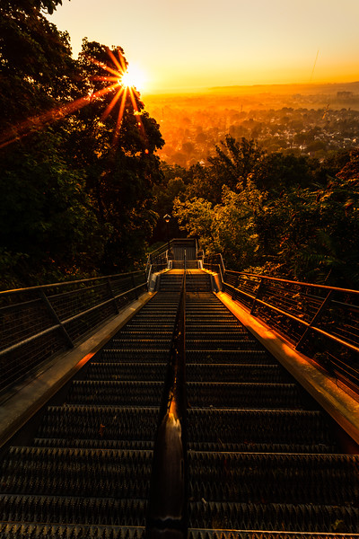 Mountain Brow Stairs at Sunrise