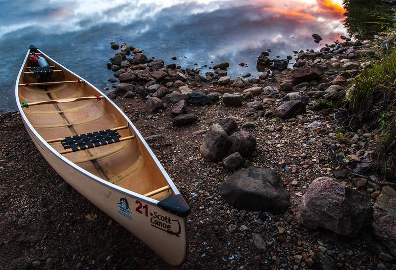 Canoe Trip Twilight Hour