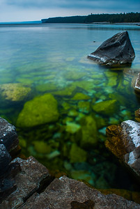 Rocks in the water, Cobble Stone Beach, Bruce Peninsula National Park