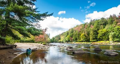 Shore Break on the Raquette Fall River
