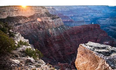South Rim Sunset Grand Canyon