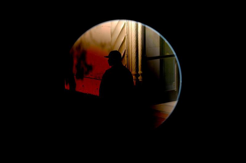 Man on Street Corner