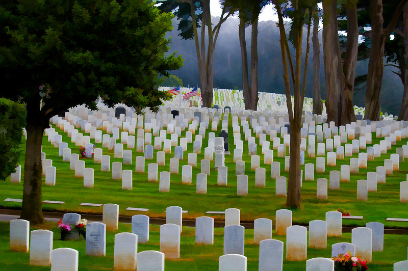 Cemetery<br /> San Francisco National Cemetery, San Francisco, California