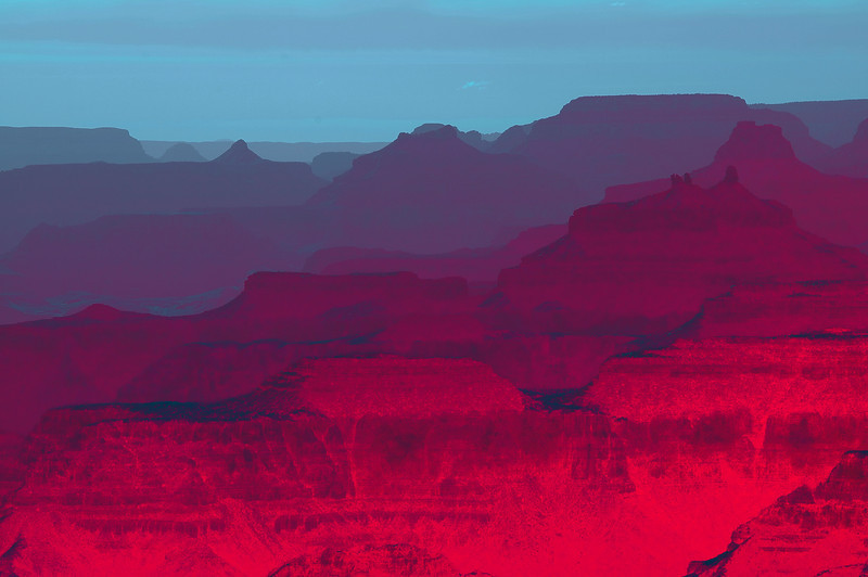 Red Glow<br /> Grand Canyon, Arizona