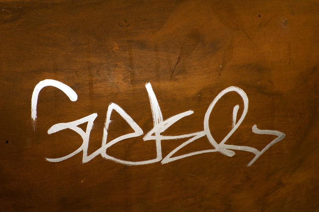 CAPTION: Vandalism Graffiti<br /> LOCATION: Petaluma, California<br /> DATE: 10-25-08<br /> NOTES: <br /> HEADING:
