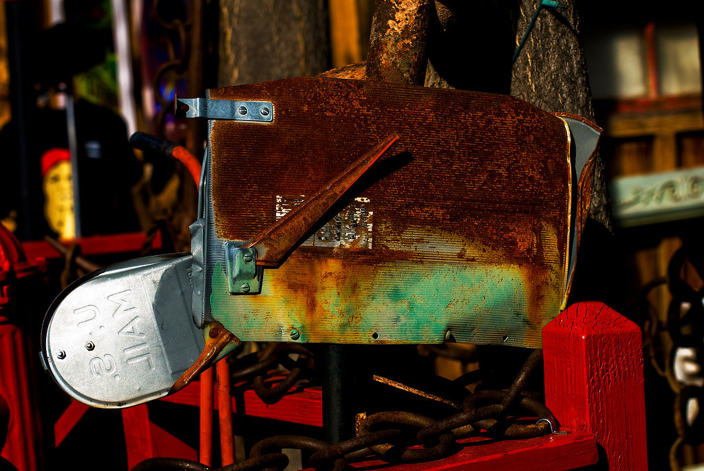 Crushed Mailbox<br /> Jerome, Arizona