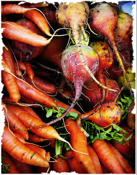 """Rainbow in a Beet"" Market Series (Original photograph by WB Eckert, digital print)"