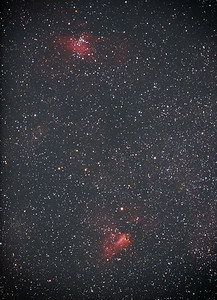 M16 & M17, Eagle and Swan Nebula