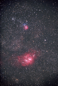 M8 & M20, Lagoon and Trifid Nebula