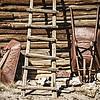 Wheelbarrows and Ladder, El Rancho de la Golondrinas, Los Pinos Road, Santa Fe, New Mexico