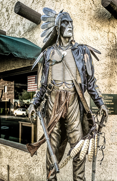Navajo Brave Statue, Main Street, Old Town, Scottsdale, Arizona