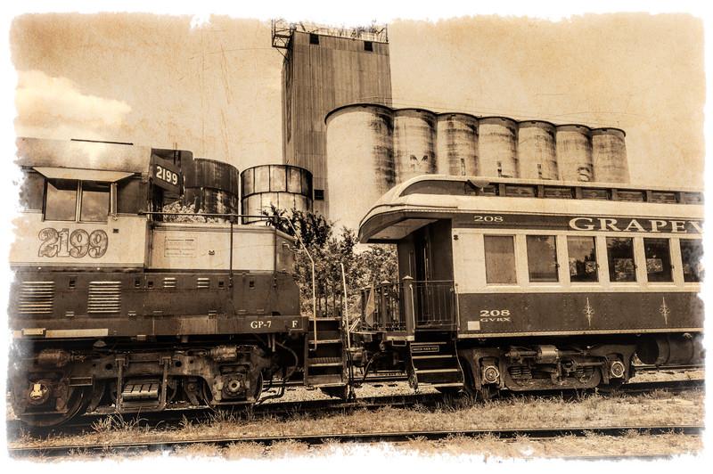 Vinny, 1953 GP-7 Diesel Locomotive, Grapevine Vintage Railroad
