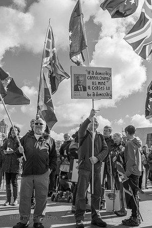 Brexit protest in Liverpool