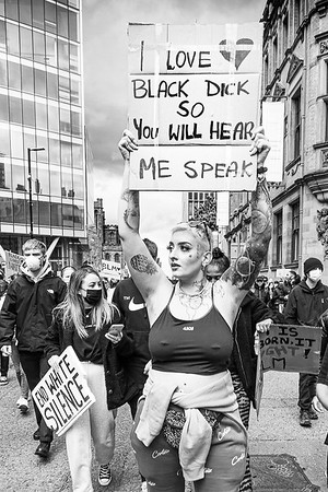 Black Lives Matter protest in Manchester.
