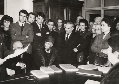 Alpignano, October 15, 1960. Inauguration of the new premises of the Tallone Press.