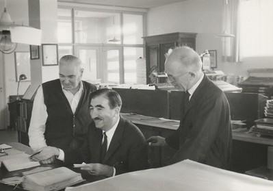 Alpignano, 1967. Philologist Gianfranco Contini checks the proofs.