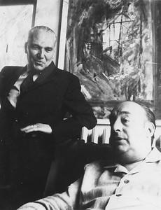 Alpignano, 1962. Pablo Neruda and Alberto Tallone.