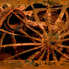 Wooden Wheels, 2002<br /> Photographic Emulsion Transfer on Copper Plate