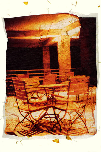 Night Cafe, 2002<br /> Photographic Emulsion Transfer