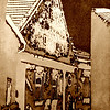 Gable Roof, 1991<br /> Darkroom Photo Etching on Metal