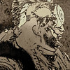Chief, 1991<br /> Darkroom Photo Etching on Metal