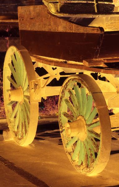 Wooden Wheels, 1991<br /> Darkroom Cross Processing