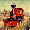 Red Locomotive, 1999<br /> Polaroid Manipulation