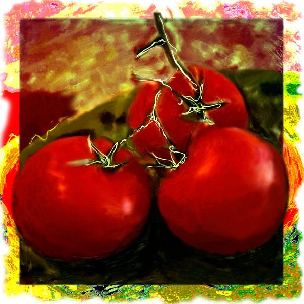 Tomatoes, 1996<br /> Polaroid Manipulation