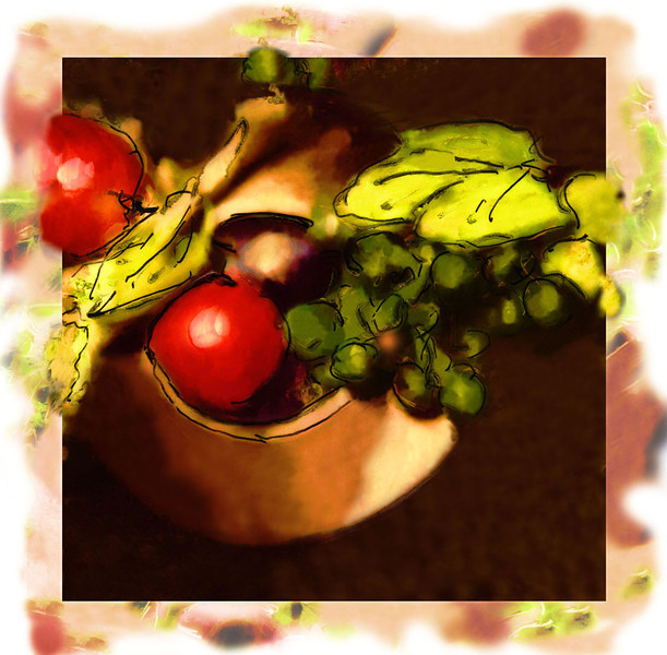 Fruit Bowl, 1996<br /> Polaroid Manipulation