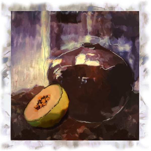 Melon, 1995<br /> Polaroid Manipulation