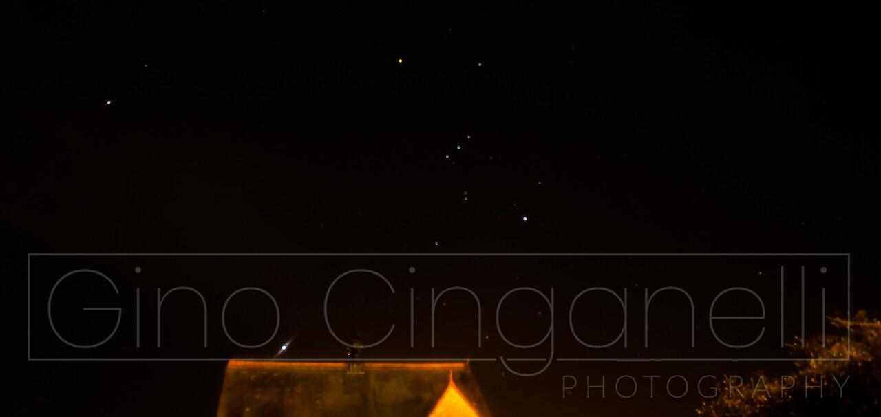 Satellite in the night sky