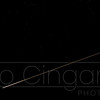 A plane in the night sky