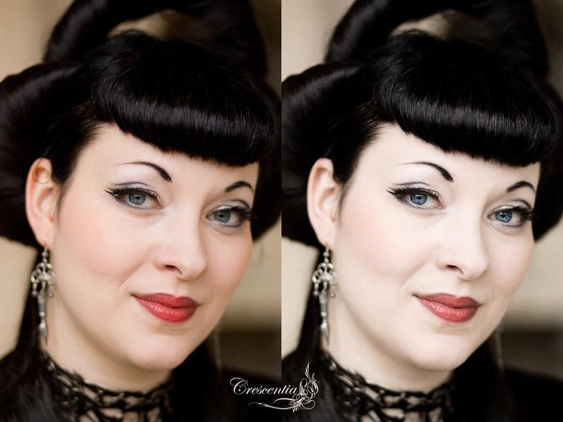 Photo: Harryson Heidrich<br /> Edit: Crescentia Moon<br /> Model: Crescentia Moon<br /> <br /> Viel habe ich an dem Bild nicht gemacht. Die Haut habe ich aufgehellt und vor allem die Augen geschärft. Ich habe keinen Weichzeichner über die Haut gezogen, sondern nur minimalste Fleckchen entfernt. Die Haare über dem Ohr sind weg und ein kleinwenig habe ich das Blau der Augen betont. <br /> Alles in Allem: eine sehr dezente Bearbeitung.