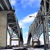 Winter Shot of Blue Water Bridge taken from Canadian side. Pt. Edward, Ontario, Canada