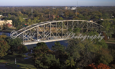 Metal Bridge over the Brazos River in Waco Texas.
